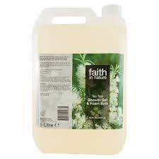 faith in nature shower gel bath foam tea tree 5 litres faith in nature shower gel bath foam tea tree 5 litres faith in nature