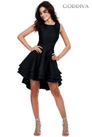 black skater dress goddiva womens multilayered sleeveless skater dress black
