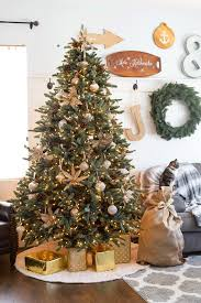 sparkly french country christmas tree domestically speaking