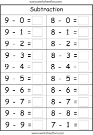 kindergarten subtraction worksheets u2013 wallpapercraft