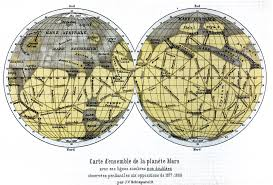 Mars Map Mars Maps By Schiaparelli 1876 1896 Digital Museum Of