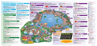 Maps Orlando by Walt Disney World Park And Resort Maps For Map Of Epcot Map Of