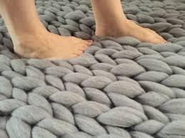 Pebble Rugs Wool Rug Chunky Braided Wool Rug Chunky Rug Chunky Knit Carpet