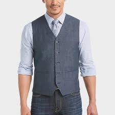 joseph abboud indigo blue modern fit linen vest s vests