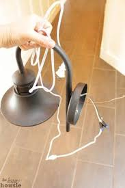 convert hardwire light to plug in how to rewire a sconce to plug in easy cottage diy pinterest