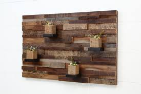 square wood wall decor reclaimed wood wall 37x24x5 large