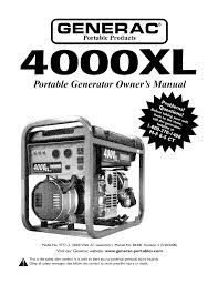 generac 4000xl parts breakdown