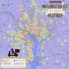 Washington Dc City Map by The Washington D C Food Delivery Heatmap Where To Live In D C