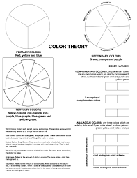color theory worksheet i u0027ve found my middle students
