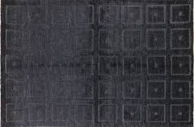 Handmade Wool Rug Exclusive 3d Square Design Black 6x10 Gabbeh Hand Knotted Wool