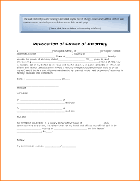 Durable Power Of Attorney Form Oklahoma by 11 Revocation Power Of Attorney Form Letter Template Word