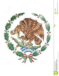 national emblem of mexico isolated on white royalty free stock