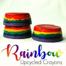 fun u0026 easy rainbow upcycled crayons craft for kids freshlyplanted