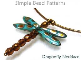 necklace beaded images Dragonfly diy beaded necklace easy beading pattern for beginners jpg