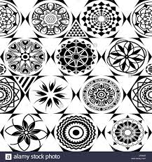 vector seamless pattern modern stylish texture with monochrome