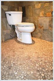 Stone Floor Bathroom - love the river stone pebble floor what is the color of the stones