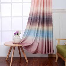 pink linen print shabby chic curtains on sale