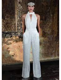 wedding jumpsuit wedding jumpsuits 21 timeless bridal designs hitched co uk