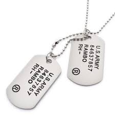 army jewelry buy k mega jewelry us army style silver mens dog tag pendant