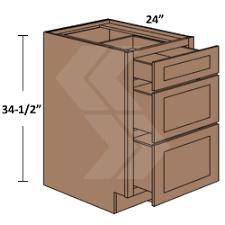 3 drawer kitchen cabinet 3db21 freeport rta maple ginger glaze drawer base cabinet 3