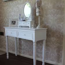 blanche range white dressing table and mirror set melody maison