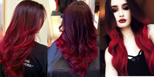 ambre hair styles ombre hairstyles in red