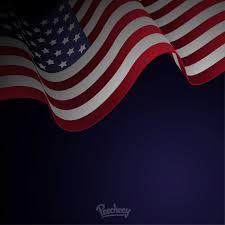 Waving American Flag Waving American Flag Blue Background Vector Download