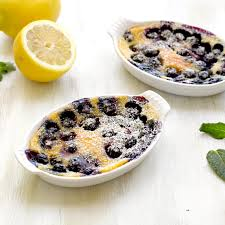 black and blueberry clafoutis tastefood