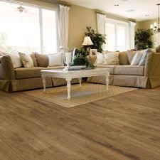 plus vinyl plank flooring on floor inside trafficmaster