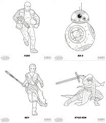 force awakens star wars free coloring pages