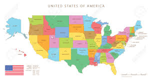 united states map states and capitals names map of the united states of america with state names united