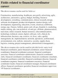 Entry Level Finance Resume Samples by Top 8 Financial Coordinator Resume Samples
