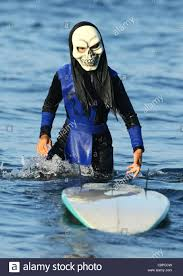 boy surfer in scary mask blackie u0027s halloween costume surf contest