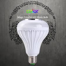 led light bulb speaker e27 light bulb remote control colorful led l bluetooth 3 0