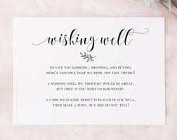 wishing cards for wedding wishing well card etsy