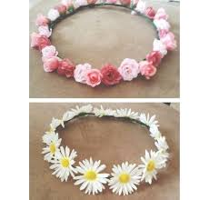 flower band diy flower headband for concerts etc real or flowers and