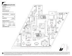 Jade Brickell Floor Plans by Jade Signature Condos For Sale At Sunny Isles