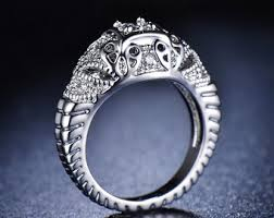 nouveau engagement rings animal ring etsy