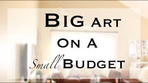 Large Wall Art Ideas by Diy Big Large Wall Art Youtube