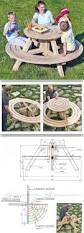 Round Redwood Picnic Table by Best 25 Round Picnic Table Ideas On Pinterest Outdoor Table