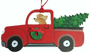 goldendoodle gifts truck tree ornaments for the