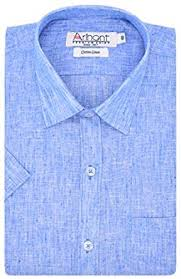 Mens Half Sleeves - buy arihant s half sleeves plain cotton linen regular fit