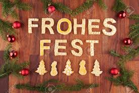 Christmas Decorations In German by The German Words Frohes Fest Which Means Merry Christmas With