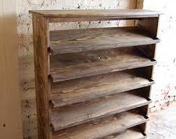 entryway shoe storage table shoe rack organizer reclaimed
