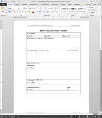 non conformance report form template fsms nonconformity report template