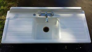 Old Kitchen Sink With Drainboard by Vintage Cast Iron White Porcelain Double Drainboard Old Kitchen