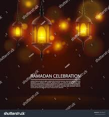 greeting card 3d mosques ornamental lights stock vector 305185943