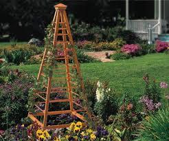 plans and instructions for building a garden obelisk including