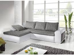 canapé d angle blanc et gris canapé d angle convertible 2 coloris mississippi