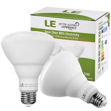 le better lighting experience 2 pack 15w dimmable br30 e26 led bulbs le